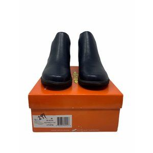 So Lite by Easy Street Utopia Texture Navy Boot 7M